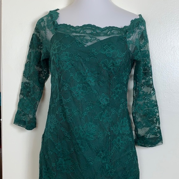 97b3524c5314 Miusol Dresses | Green Lace Bodycon Cocktail Dress Womens M | Poshmark